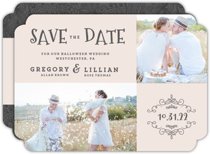 Elegant Skulls Halloween Save The Date