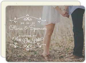Rustic Charm Save The Date Announcement