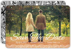 Black and White Lace  Save The Date