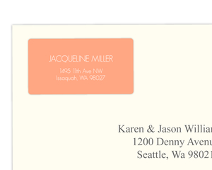 Simple Peach Address Label