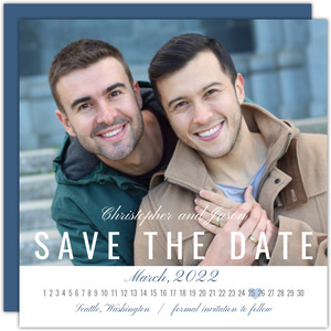 Straight Month Calendar Save The Date