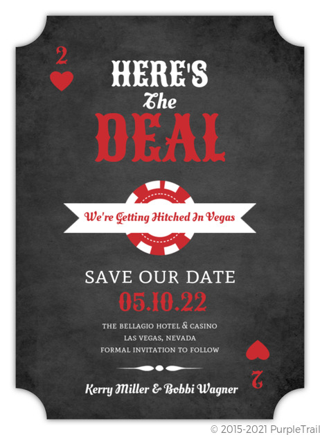 lucky love chalkboard save the date announcement save the date cards