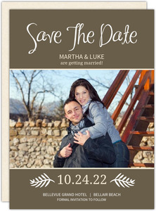 Brown and Cream Modern  Save The Date Announcements