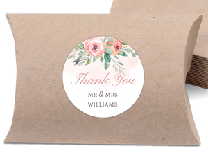 Blush Floral Arrangement Favor Label