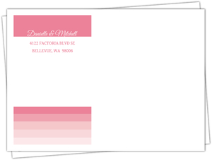All Pink Ombre Full Envelope