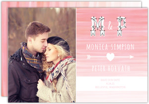 Pink Ombre Watercolor  set  Save the Date