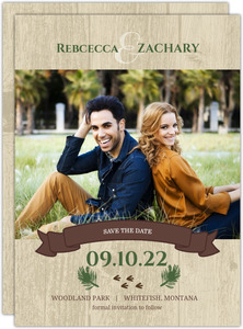 Rustic Woodland Animals Save The Date Announcements