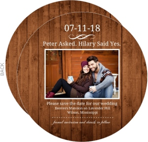Wooden Picture Perfect Love  Save The Date