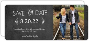Vintage Chalkboard Photo Wedding  Save the Date
