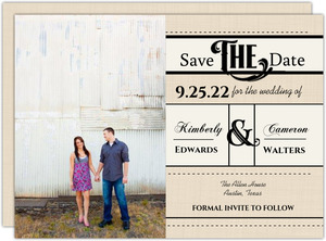Western Love Wedding Save the Date