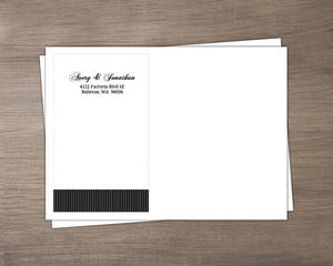 Black And White Elegant Swirl Wedding Address Label