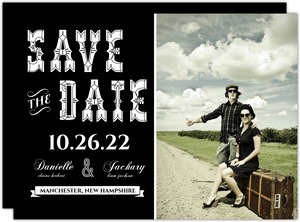 Love is the New Black  set  Halloween Save the Date