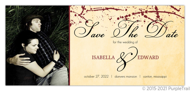 Rustic Love At First Bite Vampire Halloween Save The Date Save The