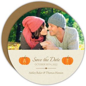 Rustic Pumpkins  Save the Date