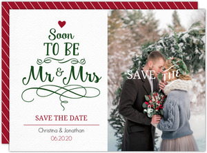 Gray Whimsical  Save the Date