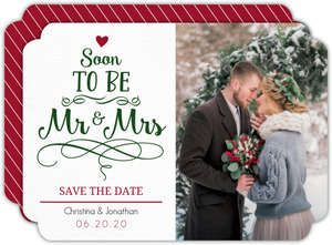 Mr Mrs Chritsmas Tree Save The Date