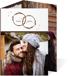 Brown Coffee Perfect Blend  Save the Date Announcement