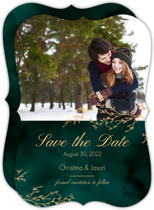 Gorgeous Emerald Watercolor Save the Date