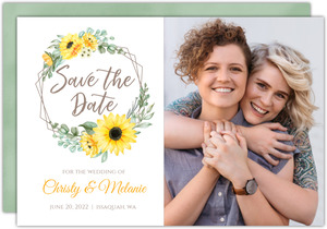 Sunflower Save the Date Card