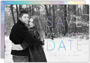 Faux Iridescent Photo Save The Date