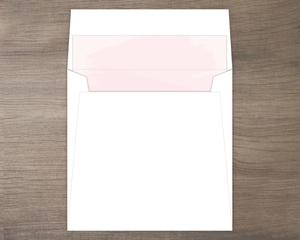 Blush Pink Paint Envelope Liner