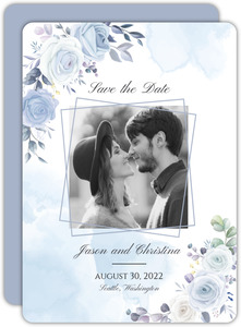 Periwinkle Floral Save The Date
