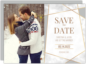 Modern Geometric Frame Save the Date