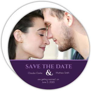 Elegant Purple Floral  Save the Date
