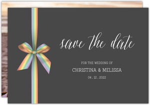 Rainbow Ribbon LGBT Save the Date