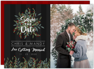Whimsical Holiday Save the Date Card