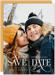 Swirly Decor Save the Date