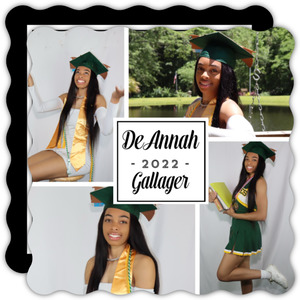 Simple Square Photo Graduation Invite