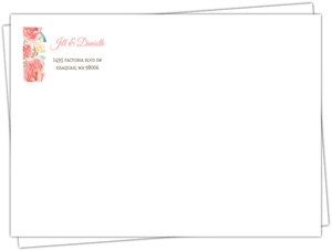 Pink Elegant Watercolor Flower Custom Envelope