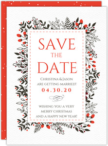 Modern Peacock  Save the Date