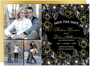 Elegant Floral Decor Wedding Save the Date Card