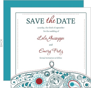 Whimsical Romance Save The Date