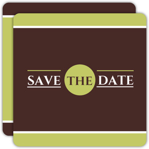Green and Brown Modern Save the Date