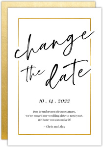 Modern Faux Gold Frame Change the Date