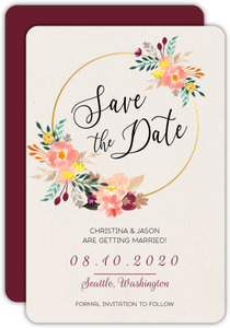 Square Blue and Grey Save the Date