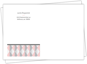 Pink And Gray Geometric Arrows Envelope