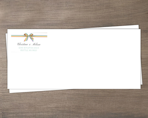 Rainbow Ribbon LGBT Wedding Envelope