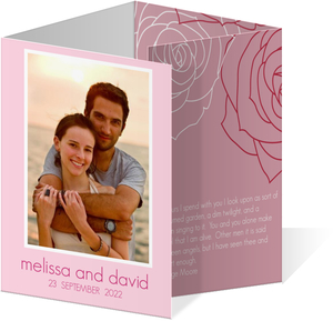 Soft Pink Save the Date Card