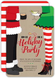 Santa & Elf Holiday Party Invitation