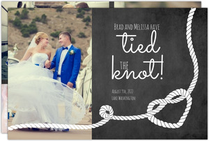 Heart Knot Photo Collage Wedding Announcement
