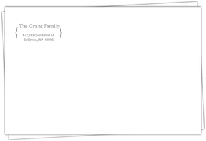 Traditional Gray Bracket Return Address Envelope