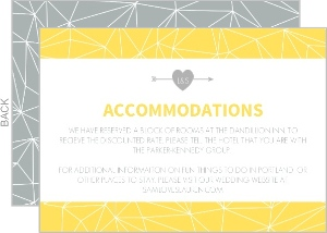 Gray And Yellow Faceted Geometric Pattern Enclosure Card