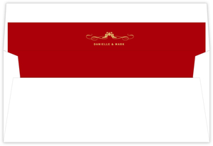 Elegant Red Winery Envelope Liner