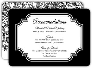 Black and White Lace  Enclosure Card
