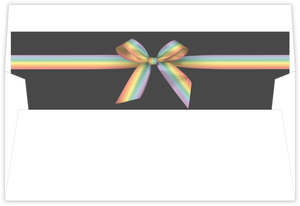 Rainbow Ribbon LGBT Wedding Envelope Liner