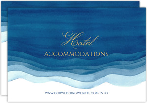 Elegant Blue Watercolor Wash Wedding Enclosure Card